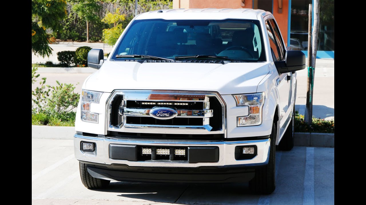 Ijdmtoy ford f 150 led light bar with hidden mounting bracket ijdmtoy ford f 150 led light bar with hidden mounting bracket install youtube aloadofball Choice Image