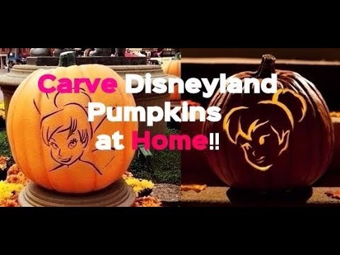 Disneyland Halloween Pumpkin Carving Ideas at Home! Disney World Mickey Minnie Party Patch Time 2017