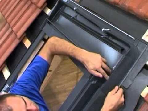 Extremely Dachfenster Montage, Eindeckrahmen befestigen beim Ziegeldach  LI19