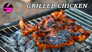 Grilled chicken recipe l Al faham l دجاج مشوي على الفحم  river side