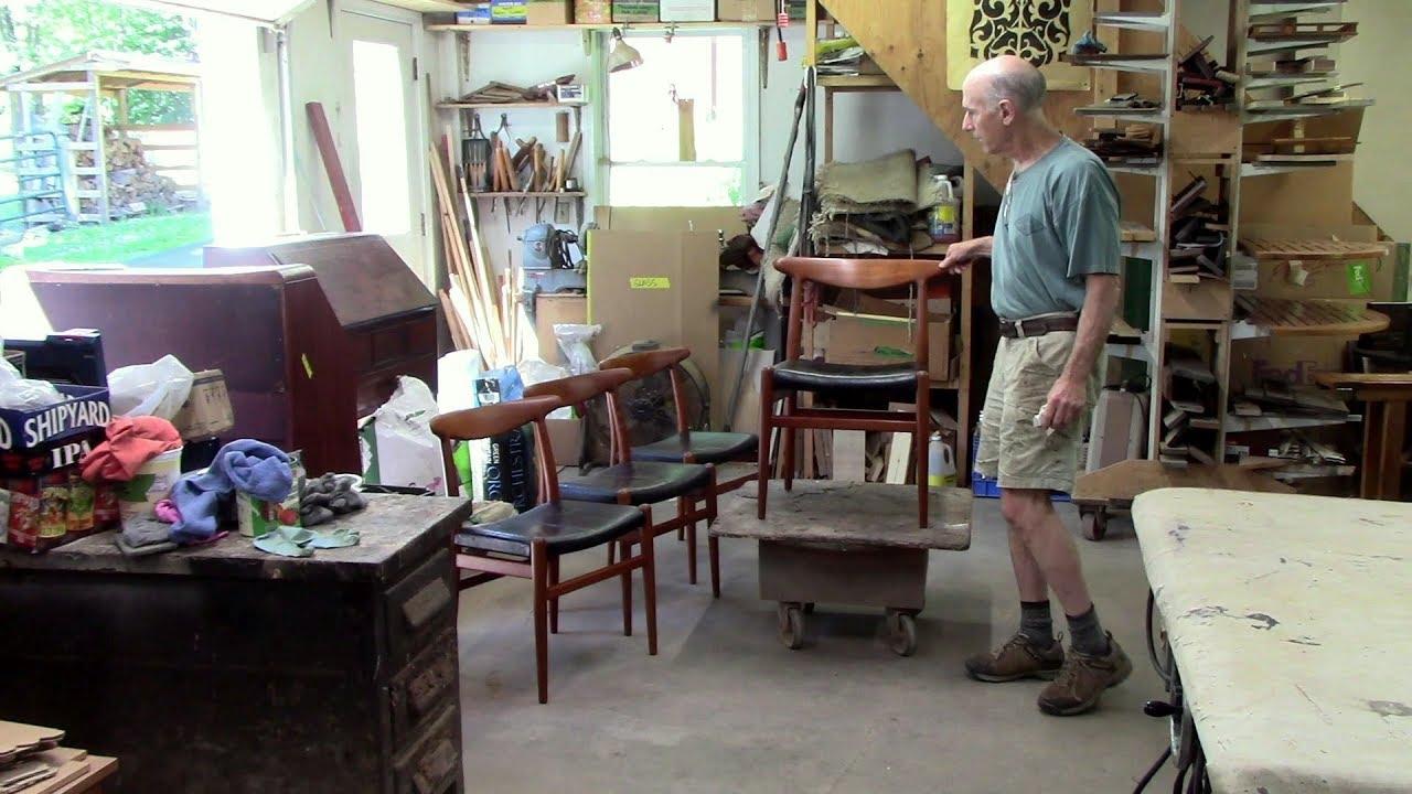 Restoring midcentury modern hans wegner teak chairs thomas johnson antique furniture restoration