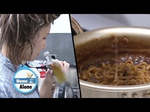 Hwasa is Having Truffle Jjajang Ramyeon Today~! [Home Alone Ep 282]
