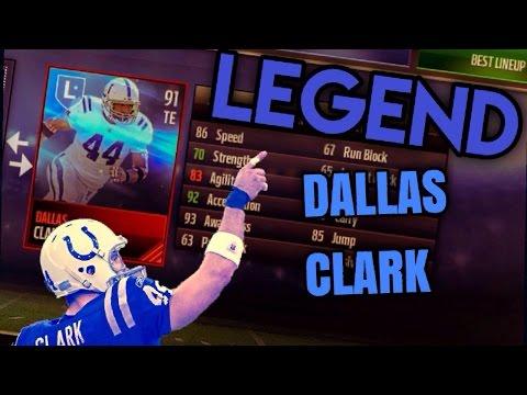 LEGEND Dallas Clark Gameplay! - Madden Mobile LEGEND TE Review