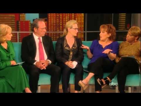 Meryl Streep & Tommy Lee Jones - The View Part 1 of 2