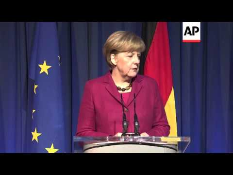 Merkel and Barroso comment in Dublin on EU initiatives to protect Ukraine