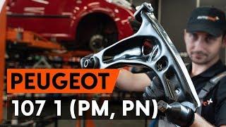 Hoe een voorste draagarm vervangen op een PEUGEOT 107 1 (PM, PN) [AUTODOC-TUTORIAL]