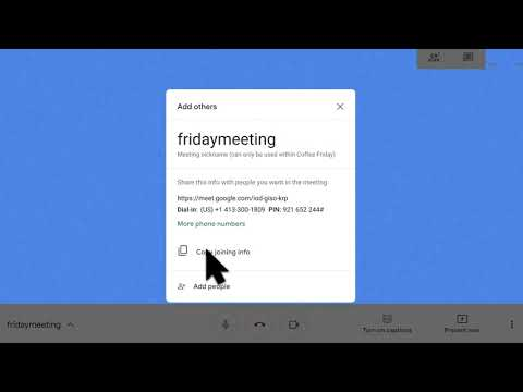 Learn how to use Hangouts Meet