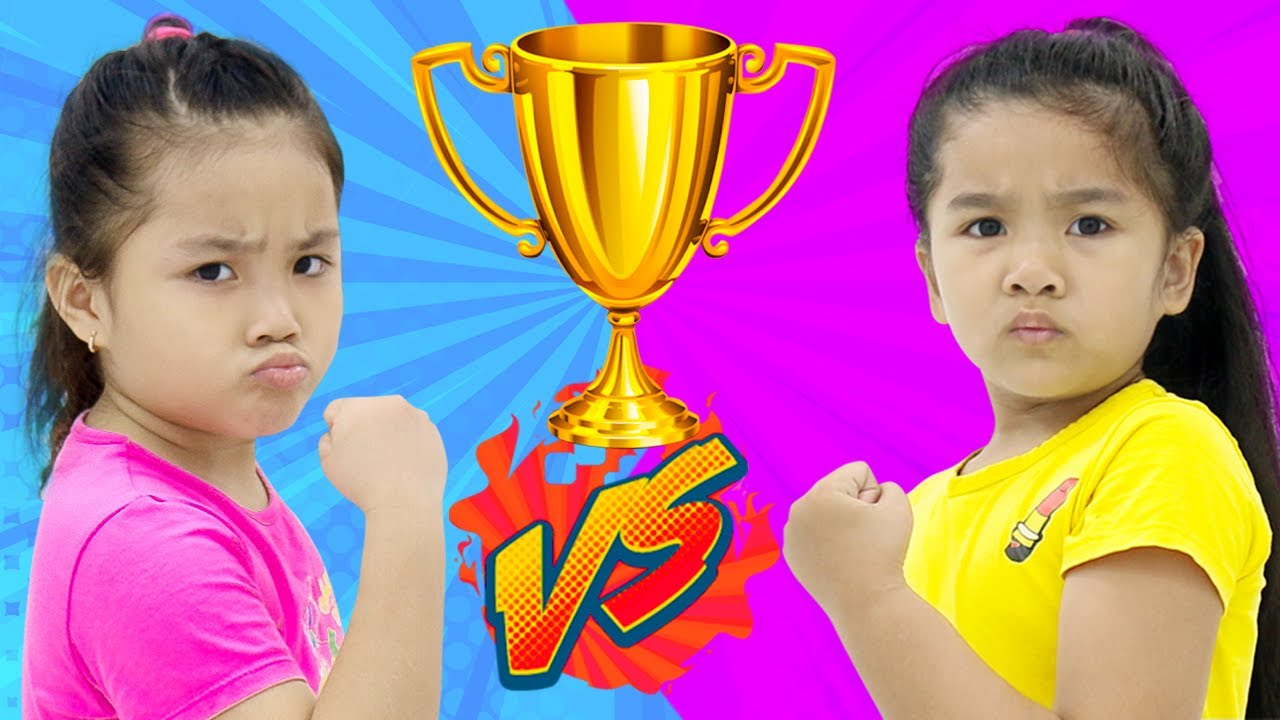 Suri and Annie Pretend Play Competition Sports Challenge for Kids