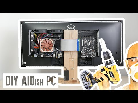 How to make an all-in-one workstation PC from scratch (DIY AIO computer) - YouTube