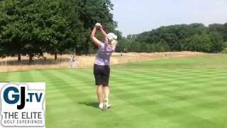 Charley Hull, 18 year old European Tour Winner, slow motion swing, Woburn golf club Tour Player.
