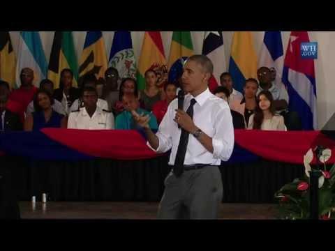 [FULL VIDEO] President Barack Obama Town Hall at UWI, Jamaica - April9,2015