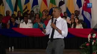 [FULL VIDEO] President Barack Obama Town Hall at UWI, Jamaica - April9,2015 thumbnail
