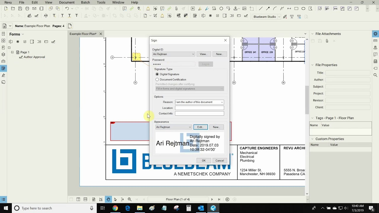 Signatures, Stamps and Certifications- Bluebeam Revu 2018 Feature Spotlight