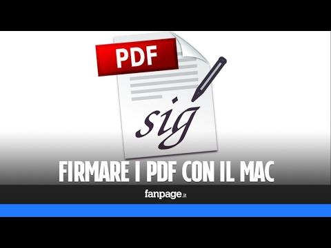Firmare I PDF con il Mac