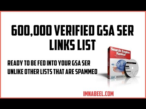 2016 Free GSA Search Engine Ranker Verified List