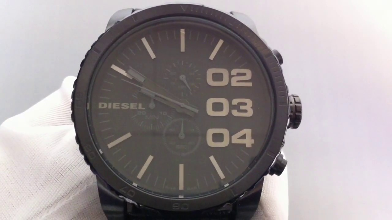 97cbc9731bc7 Men s Blackout Diesel Chronograph Watch DZ4216 - YouTube