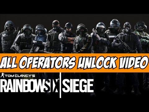 Rainbow Six Siege All Operators Unlock Video Cinematic Tom Clancy SAS, FBI SWAT, GIGN, GSG9