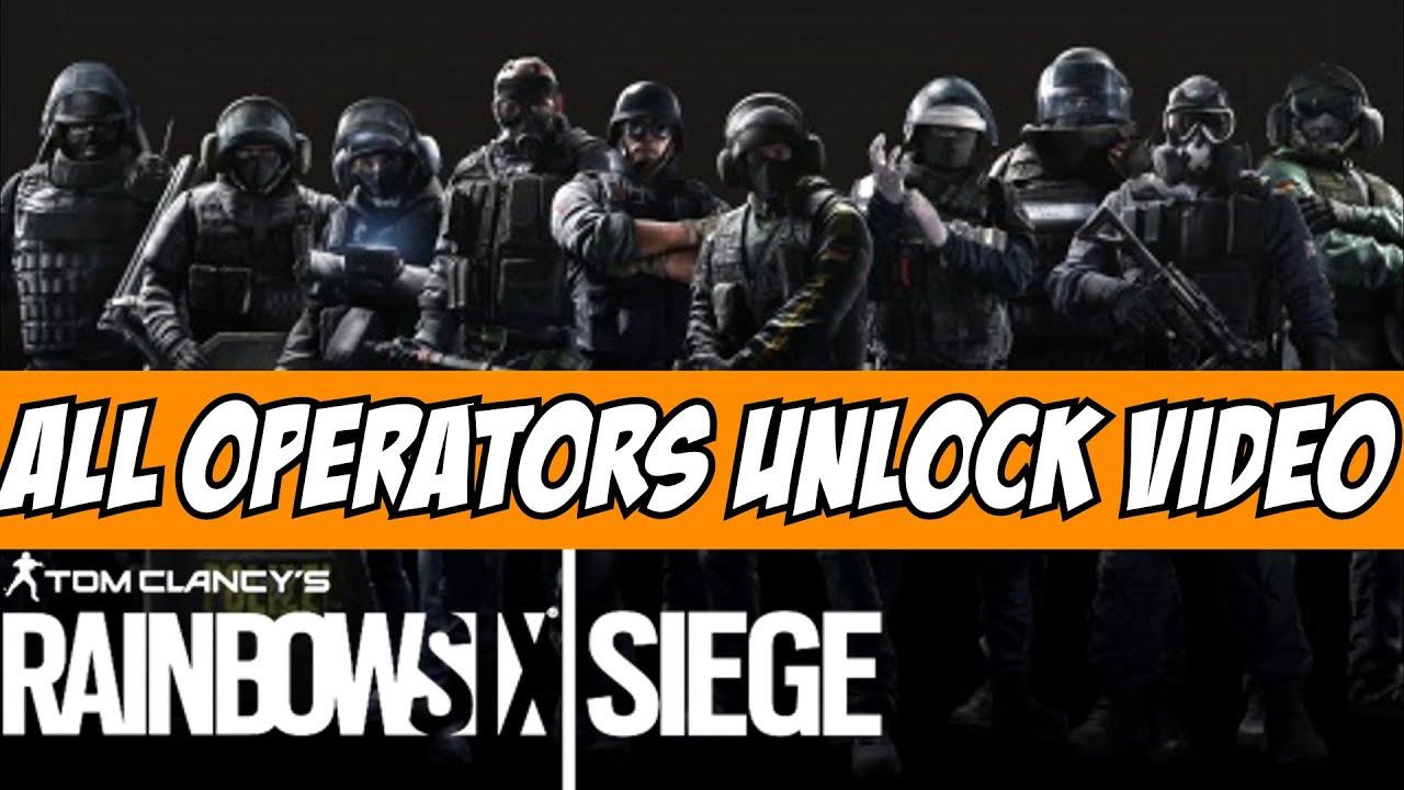Rainbow Six Siege Gign Operators: Rainbow Six Siege All Operators Unlock Video Cinematic Tom