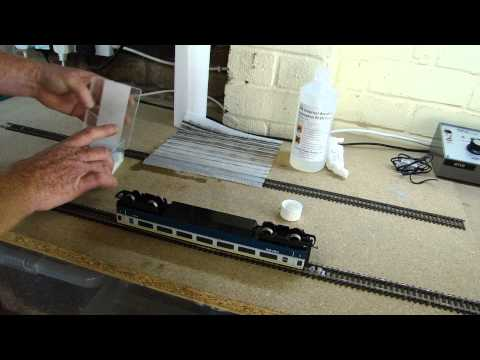 Model Railway Hints & Tips. Clean rolling stock wheels.