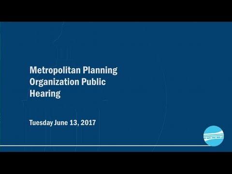 Metropolitan Planning Organization (MPO) Public Hearing