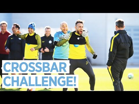 MAN CITY EPIC CROSSBAR CHALLENGE! | Man City Training