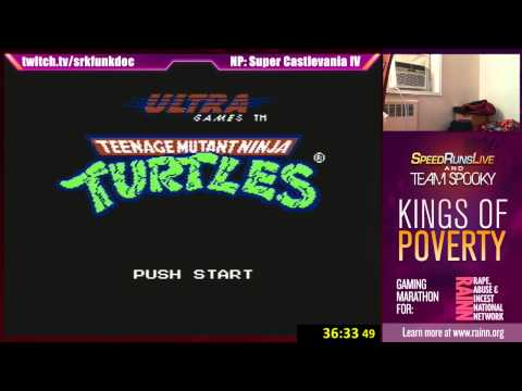 TMNT NES with Josh The Funkdoc, Nerdjosh, Min & Spooky - Kings of Poverty for Rainn Bonus Part 2