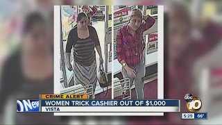 Women accused of tricking 7-Eleven cashier out of cash, money orders