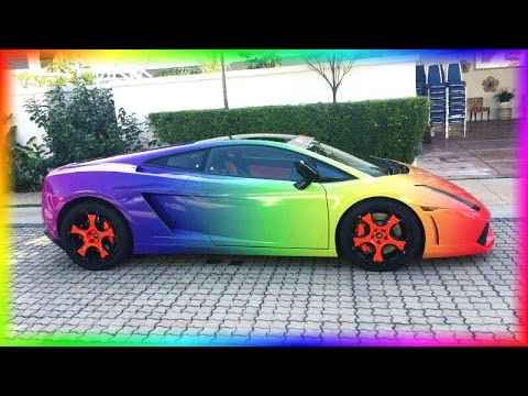 Racing In My Rainbow Lamborghini Need For Speed Youtube