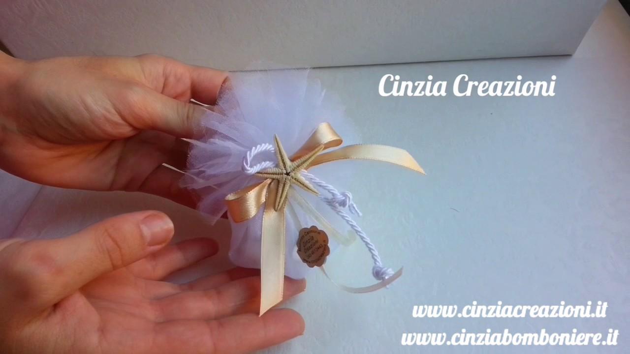 Matrimonio Tema Origami : Portaconfetti tema mare con stella marina bomboniera matrimonio