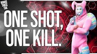 FORTNITE   OP Rabbit Raider Jonsey Sniper Build - INSANE 1 SHOTS!