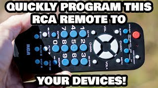 Quickly Program This RCA Remote to Your Devices!