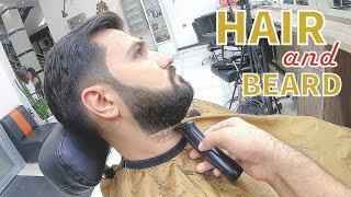 hair and beard cut, how is it done? video to learn, hair cutting,hairstyles