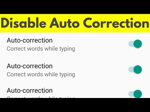 how to change autocorrect on android