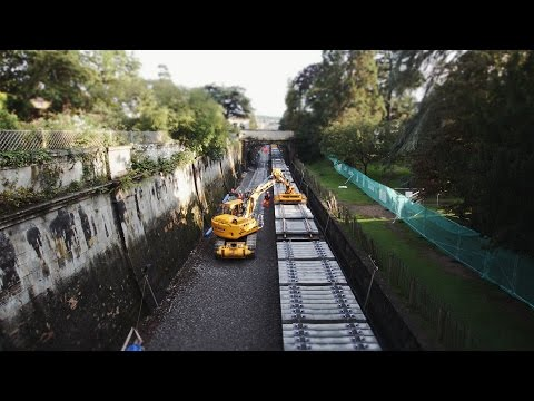 Sydney Gardens time-lapse video of track lowering and renewals 24 August - 1 September 2015