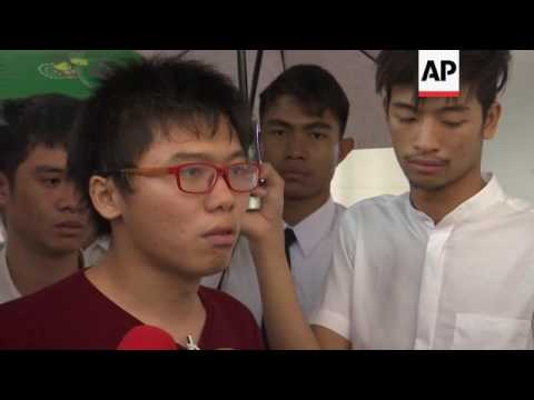 Thai students protest in support of HK activist