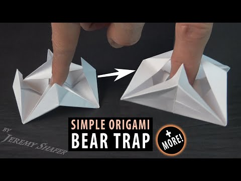bear-trap-+-fidget-spinner-+-balancing-blow-spinner-on-stand-=-awesome-origami!