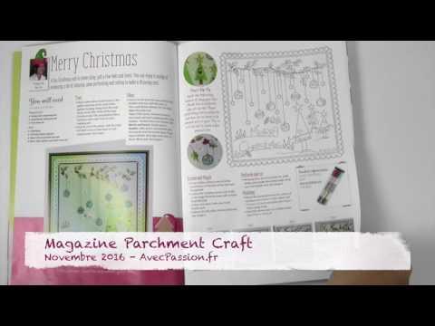 Magazine Parchment craft, Loisirs créatifs Pergamano