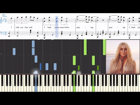 Kesha - Praying (Synthesia Piano Tutorial w/Lyrics)