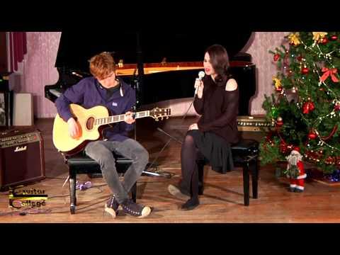 """Jingle Bell Rock"", Лиза Фриц. Новогодний концерт 2014/15. Guitar College Moscow"