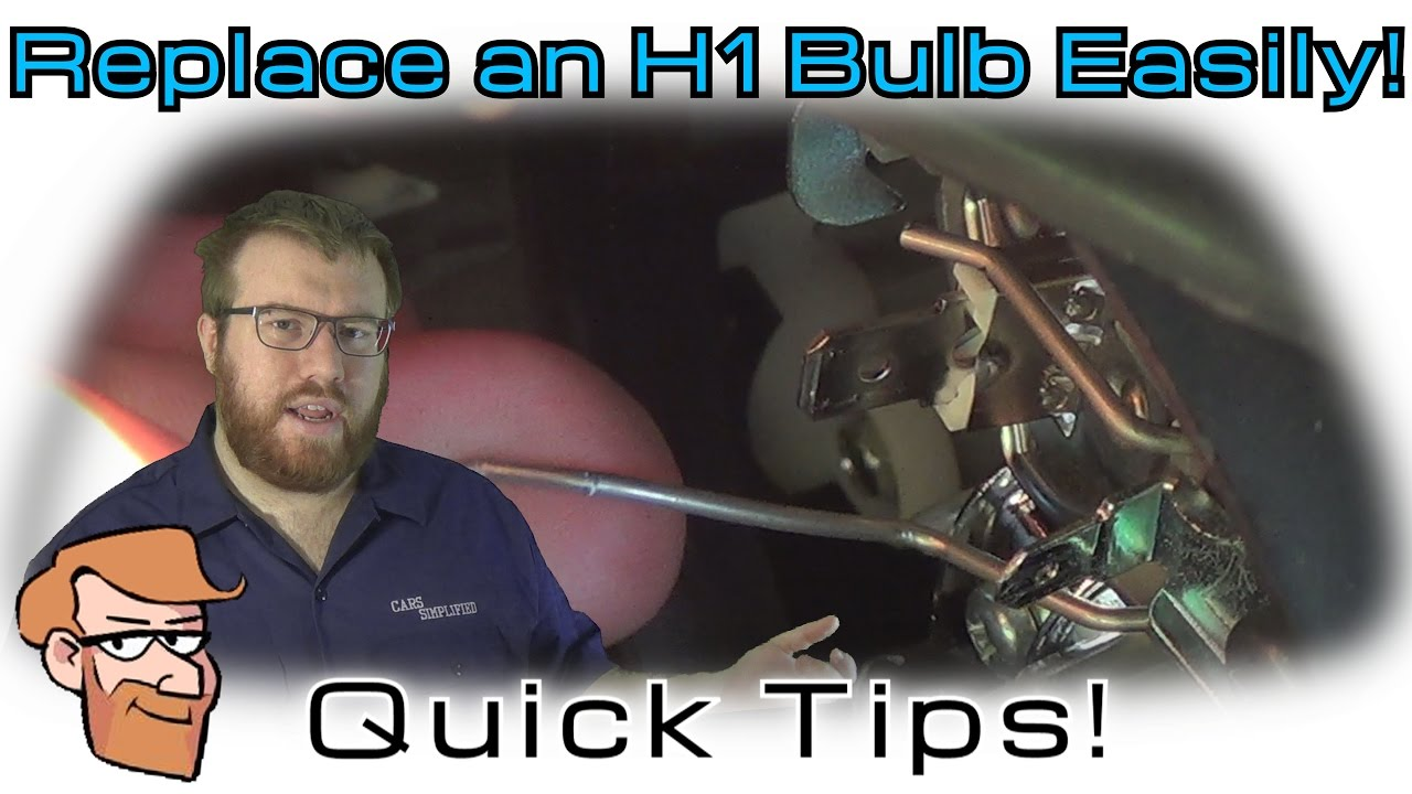 How To Replace H1 Headlight Bulbs Cars Simplified Quick Tips Youtube Wire Harness Clamp Aerospace