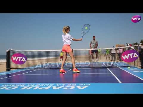 Beach Tennis in Acapulco with Genie Bouchard