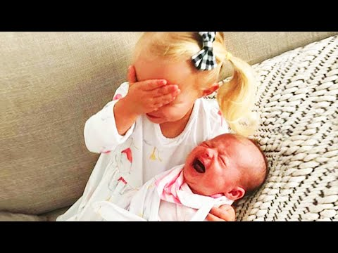 Legendary Moments When Kids Meet Newborn Babies - Funny Baby Siblings
