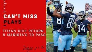 Titans 58-Yd Kick Return Sets Up Mariota's Perfect TD Drive vs. Pats