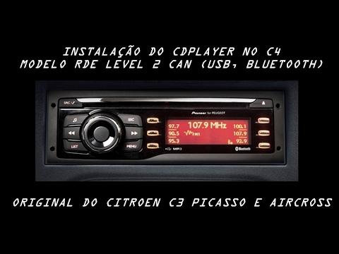 Instalação do Cdplayer RDE Level 2 CAN (com USB, Bluetooth)