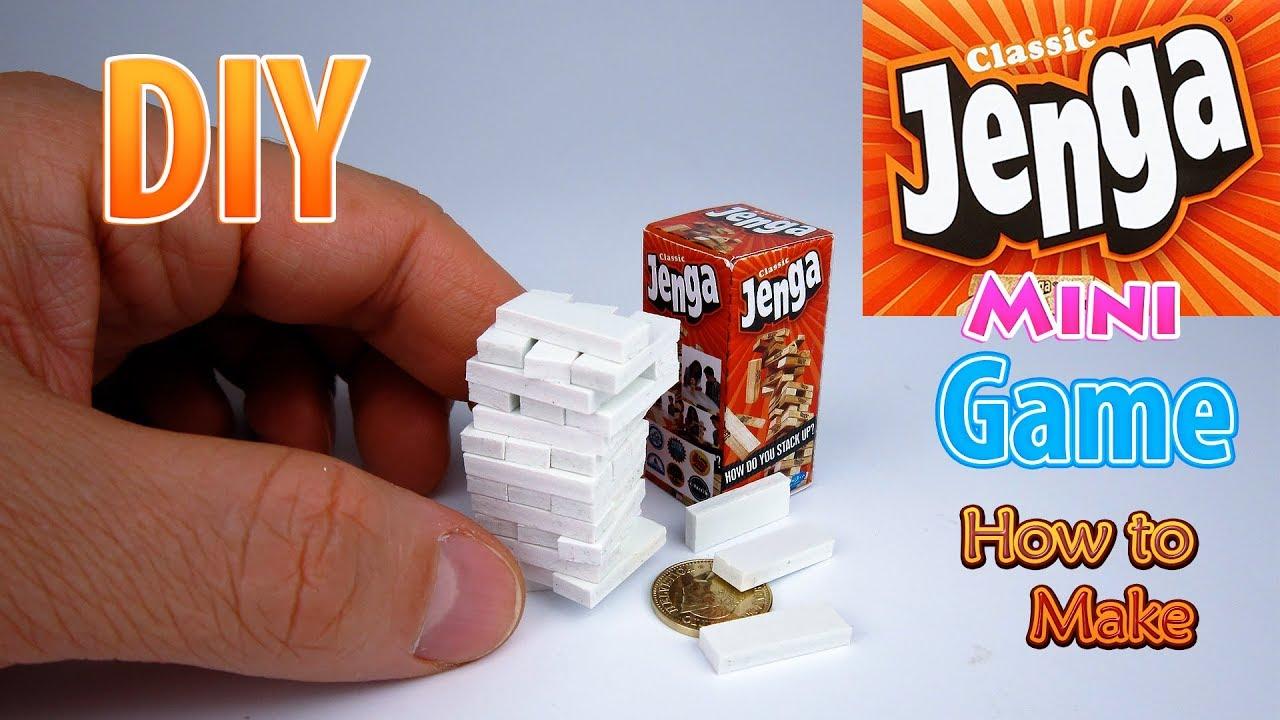 DIY Realistic Miniature Jenga Game | DollHouse | No Polymer Clay!