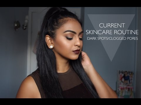 SKINCARE ROUTINE FOR DISCOLORATION/CLOGGED PORES | REESIIBABE