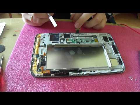 Samsung Tab 2 GT P3100   замена тачскрина и дисплея, разборка