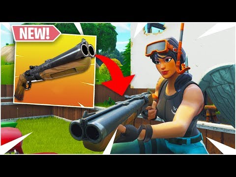 *NEW* HOW TO USE THE DOUBLE BARREL SHOTGUN! (Fortnite: Battle Royale 5.20 UPDATE)