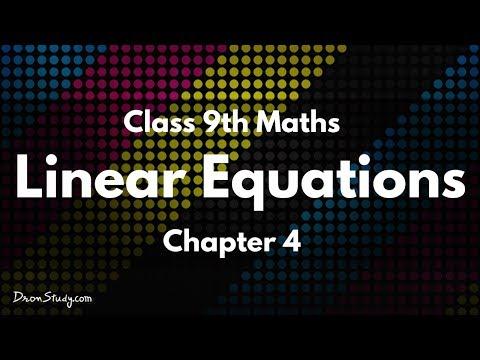 Linear Equations Cl Ix Maths Cbse