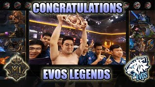 EVOS LEGENDS ARE THE M1 WORLD CHAMPIONS IN 2019 🇮🇩